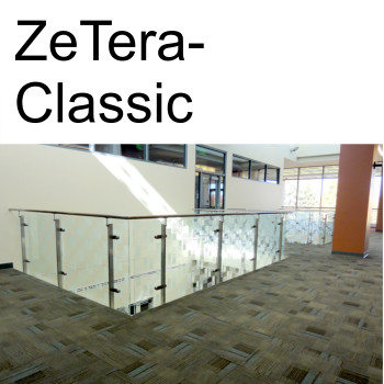 ZeTera Classic glass and stainless steel railings